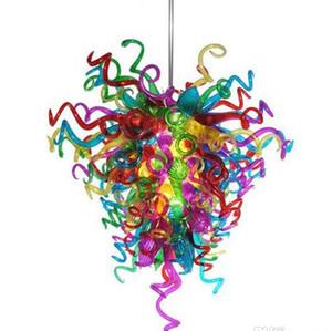 Pendente moderna Colorful lampade fatte a mano in vetro soffiato lampadario Chandelier LED Illuminazione per decorazione della nuova casa