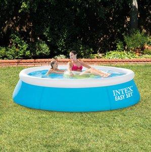 INTEX Genuine espessa de grandes dimensões adulto piscina para a família piscina para crianças 183 * 51CM forma de prato