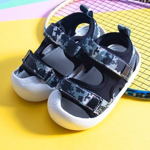 Summer Kids Fashion Crochet 맨발로 여자를 위해 산책 소녀 걸 레 공주 신발 어린이 아기 샌들을 걷기