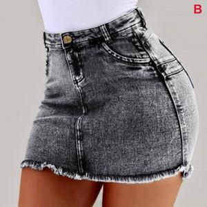 Yaz -MX8 için Kadınlar Kısa Jeans Yüksek Bel Püskül Hem Delikler Sıcak Şort