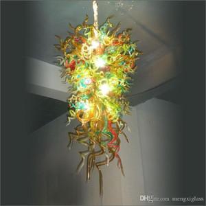 LED de moda moderna hecha a mano soplado Iluminación Artística grande de cristal soplado a mano de la lámpara de cristal moderno LED Lámparas del diseño moderno de la cocina