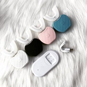 EPACK 360 Grad automatische elektrische Zahnbürste wiederaufladbare Sonic Dental Zahnbürste USB Silikonbürste Zahnköpfe Pflege Smart U Type RETAIL