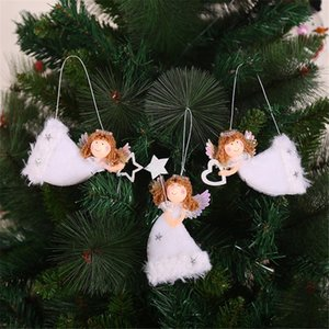 3PCS Cute Angel Dolls Christmas Pendant Cute Heart-Shape Flying Angel Plush Hanging Xmas Tree Innovative Decorations For Home Christmas Deco