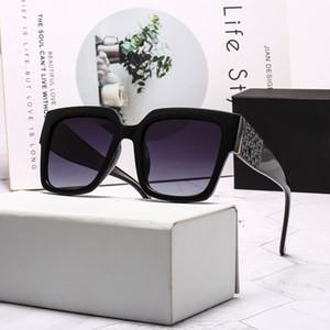 3009Womens Occhiali da Sole grande piazza struttura in metallo Vetri affascinante anti-UV400 occhiali lenti per il tempo libero stile elegante con ca