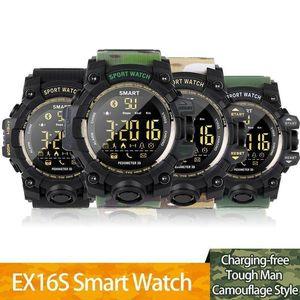 EX16 e Esportes relógio inteligente Bluetooth IP67 à prova d'água câmera remota de Fitness Rastreador Wearable Tecnologia Correndo relógio de pulso