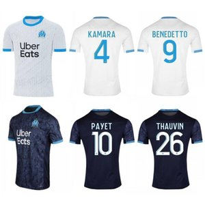2020 2021 Maillot OM Olympique de Marseille Soccer jersey Marseille Maillot de foot BENEDETTO PAYET L GUSTAVO 20 21 THAUVIN shirts