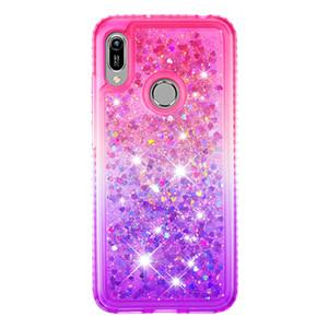 2021 Heißer Verkauf Anti-Herbst Wasserdichte Side Bohrer Plus Gradient Farbe Quicksand TPU Handy-Kasten für Huawei Honor 8A Y6 2019 Y6PRO Y6Prime