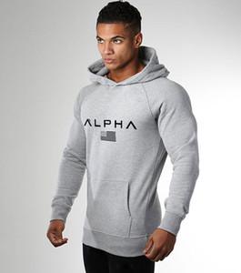جديد alpha هوديس الرجال ضئيلة الخريف أزياء العلامة التجارية البلوز القطن طويل الأكمام الأبيض blacksportswear البلوز الرجال رياضية moleton