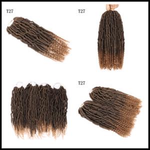 Dhgate all'ingrosso Crochet Passione Twist lunghi Best Hair for Passion Twist Crochet estensioni dei capelli sintetici tessuto dei capelli 14inch Bulk ricci 2020