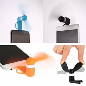 Portable 3 2 in 1 Mini Micro-USB-Ventilator von Smartphone-Zellen-Handy Fan Kühler Cooler Handheld Für Android Micro USB Typ C halten Fan