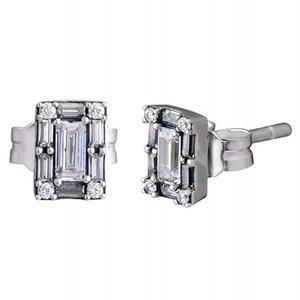 Authentique S925 En Argent Sterling Femmes DIY Bijoux Lady Boucles D'oreille Luminous Ice Stud Pour Le Cadeau De Mariage Des Femmes Fine Jewelry