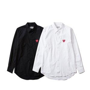 Printemps Hommes Designer Chemises Marque Femmes Blouses À Manches Longues Overshirts amateurs de luxe T-Shirts Automne De Mode Coeur Motif Filles Chemise 2041300 V