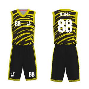 Custom Profession Design сублимированная баскетбольная майка спортивная одежда мужская баскетбольная форма дизайн логотипа V-образным вырезом