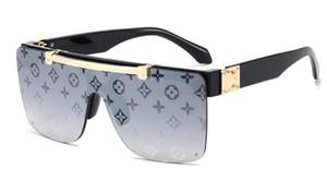 2020 nouveau cadre grande tendance de la mode des lunettes de soleil aviateur lunettes de soleil femmes lunettes de mode haut de gamme 8color libre Livraison