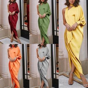 2020 Nouvelle arrivée Cheap Women Party Dress Casual Wear élégante une épaule côté Fractionnement femmes robe FS5303