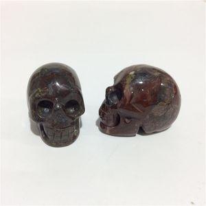 2inches en gros de haute qualité naturelle sang de dragon Crâne forme des pierres en cristal sculpté à la main Palm pour le présent ou Collection