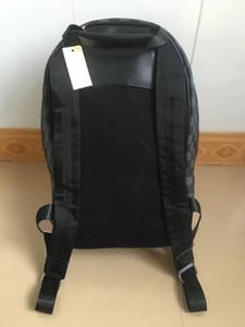 New Mike mochila saco de viagem pu material de grade preta de alta qualidade mochila, 002