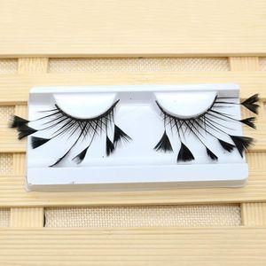 1 paire Parti plume artificielle douce maquillage mascarade scène outil Art longue Extension réutilisable Fashion Faux Cils Exaggerated