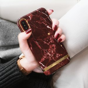 Atmosphère Concise Alcool Marbre Rouge Pomme X main Shell Iphone8plus Shell PROTECT Fonds gaine femme