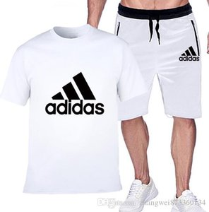 New 2019 Stylish casual sports suit Men's short sleeves and shorts Man sportswear jogging Training M-XXL