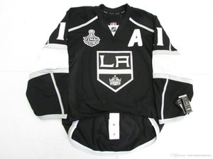 Cheap custom Anze Kopitar LOS ANGELES KINGS HOME 2012 STANLEY CUP JERSEY stitch add any number any name Mens Hockey Jersey XS-5XL