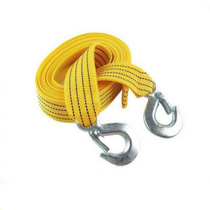 4m 5 Ton Tow Cable Towing Pull Satch Rope Heavy Duty Road Recovery Car
