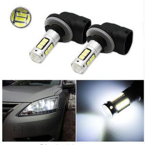 2adet H27 880 881 led lamba DRL sis Ampul 30smd 4014 araba Işıklar Gündüz araba Gün Sürüş 12V Araç Dış ışıklar