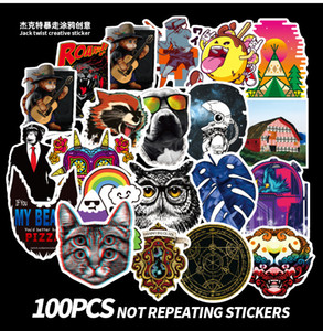 100 Pcs Waterproof Laptop Popular Elements Stickers Graffiti Patches Stickers Car Stickers and Decals Motorcycle Bicycle Luggage Skateboard
