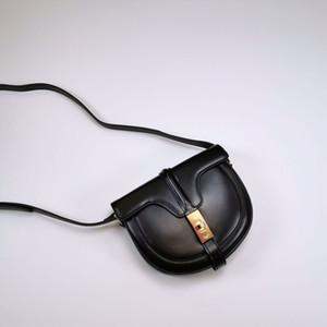Moda nuevo metal de cuero cuero de la hebilla de satén bolsa de sillín hombro bolso clásico del mensajero del bolso de las mujeres de la moda retro muy simple de vanguardia