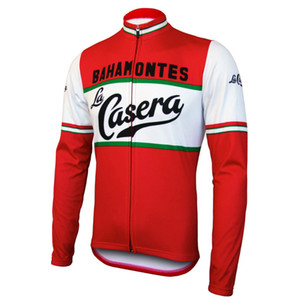 SPRING SUMMER ONLY CYCLING JACKETS CLOTHING LONG JERSEY ROPA CICLISMO 2020 La Casera Bahamontes TEAM SIZE:XS-4XL