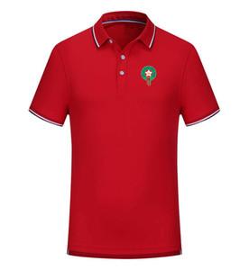 Marruecos 2020 primavera y el verano nuevo polo de fútbol de algodón de la solapa de manga corta de color sólido de la camisa de polo de los hombres pueden ser polo de los hombres personalizados bricolaje