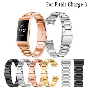 Für Fitbit Charge 3 Edelstahl-Uhrenarmband Bnad Ersatz-Armband Art und Weise Verkauf Metall-Armbänder für Fitbit Smart Watch