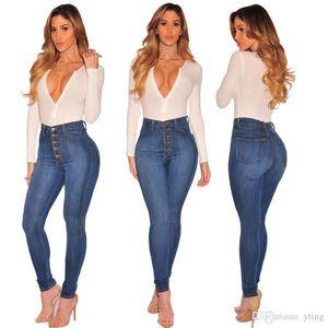 pantalones vaqueros de los pantalones vaquera americana caderas elevación apretado atractivo altura de la cintura alta pantalón de mezclilla elásticas 2 colores