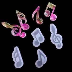 Nota de la música de herramientas para hornear, moldes de silicona joyería que hace bricolaje decoración de la joyería hecha a mano epoxi arte hecho a mano DIY colgante