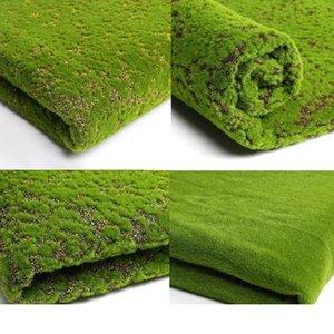 100 * 100cm artificielle plante verte mur mousse gazon Simulation pelouse plante verte Scène d'affichage fausse fenêtre de mousse artificielle pelouse