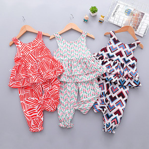 Children's Clothing Girls Summer Suit Female Baby 1-5 Years old Clothes Fashion Suit Two-piece