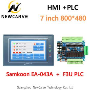 Samkoon EA-043A IHM écran tactile de 4,3 pouces 480 * 272 et F3U série PLC Conseil de contrôle industriel avec communication DB9 ligne Newcarve