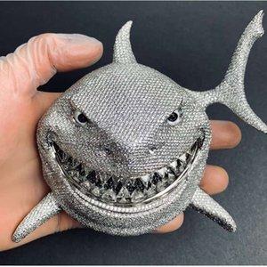 Shark 6ix9ine Hop Ожерелье Личность Циркон рэп Полные ожерелья Подарочные Мужчины Ювелирные Изделия Подвеска Бусины Подвески HIP WPJOQ