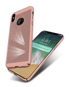 Ultra Thin Slim Mesh Hard PC Case For iPhone X XR XS MAX 8 7 6S Plus 5S Samsung Breathable dot Back Cover
