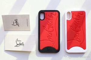 Caixa branca vermelha do telefone móvel da marca para o iphone X Xs 7 7plus 8 tampa macia do silicone 8plus