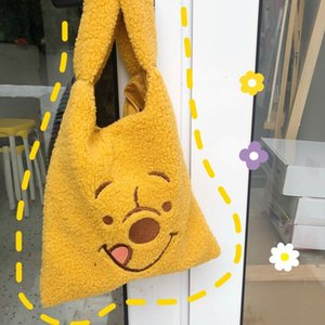 Bentoy Mädchen-beiläufige Taschen-Handtasche Korea Brown Bear Dog-Umhängetasche Frauen Reise-Shopping Bags Mode Flanell Tages