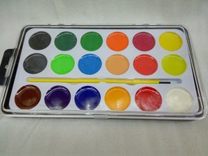 Freeshipping BABYYOUNG Solid watercolor painting pigment 18 21 color painting pigment Suitable for beginners to practice