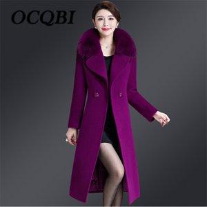 2018 Winter Women Elegant Slim Big Size Coat High Quality Streetwear Korean Style Coat 4xl