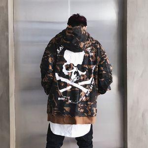 Camuflagem Patch Hoodies Dos Homens Autmn Designs Camo Impresso Pullover Camisolas Masculinas Hip Hop Solto Streetwear