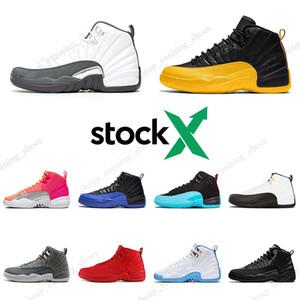 2020 Stock x 12 12 s Chaussures de basket-ball Foncé Gris Université or Winterized Gym Rouge Mens Gamma Bleu Sport Sneakers Taille 7-13