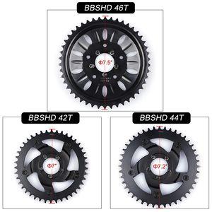 42T 44T 46T conjunto de platos para Bafang 8FUN Mediados del motor de accionamiento BBSHD / BBS03 cadena Kit anillo piñón de la rueda de manivela eléctrica determinada de la bici del motor