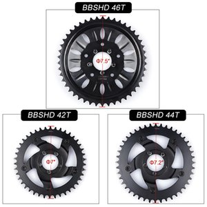 42T 44T 46T Звездочка для Bafang 8fun Mid Drive Motor BBSHD / BBS03 Chain Ring звездочка Crank Установить электрический велосипед Motor Kit
