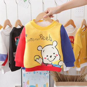 Winter children's baby Korean version of the cartoon plus velvet thickening bear sweater