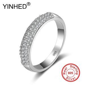 Venta al por mayor Half Band Circle Cubic Zirconia anillos de boda para las mujeres Pure Solid 925 anillo de compromiso de plata regalo de la joyería fina ZR515