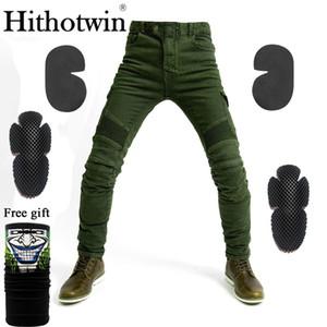 Armee grün UBS06 Jeans Herren-Motorrad-Jeanshosen Schutzausrüstung moto Hosen Hosen Renn